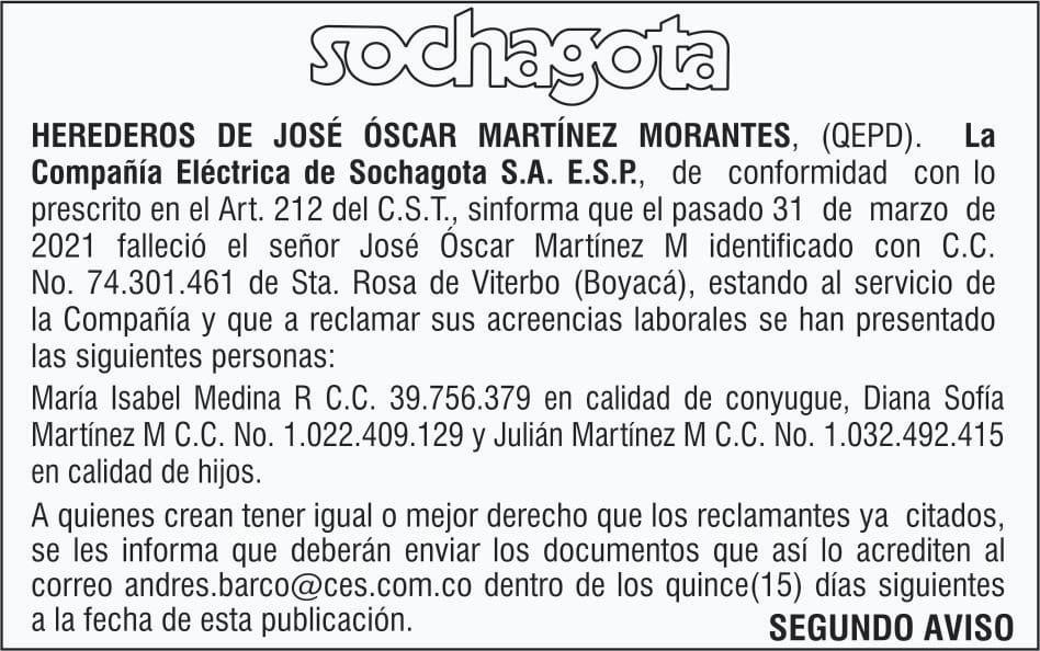 Herederos de José Óscar Martínez Morantes QEPD... 3