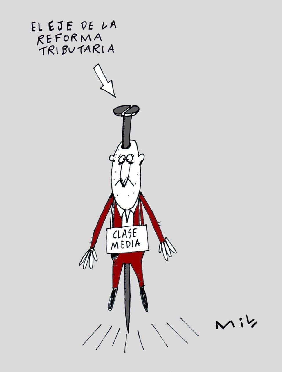 El eje de la reforma tributaria - #Caricatua7días 1