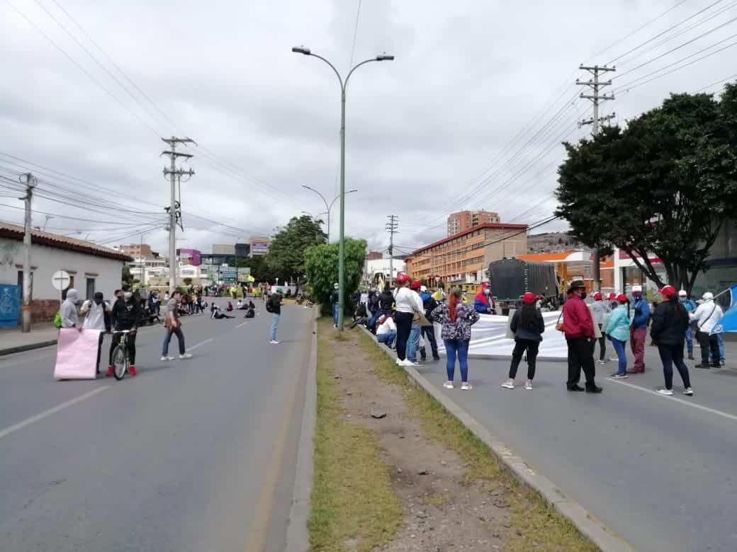 Así va el paro en Boyacá, contra la reforma tributaria 2