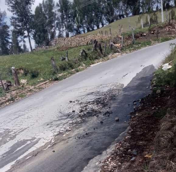 En Paipa denuncian trampa mortal por mal estado de la vía que conduce a Palermo 1