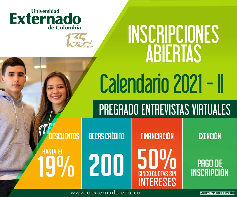 La Universidad Externado de Colombia continúa apoyando el acceso a la educación superior del país 1