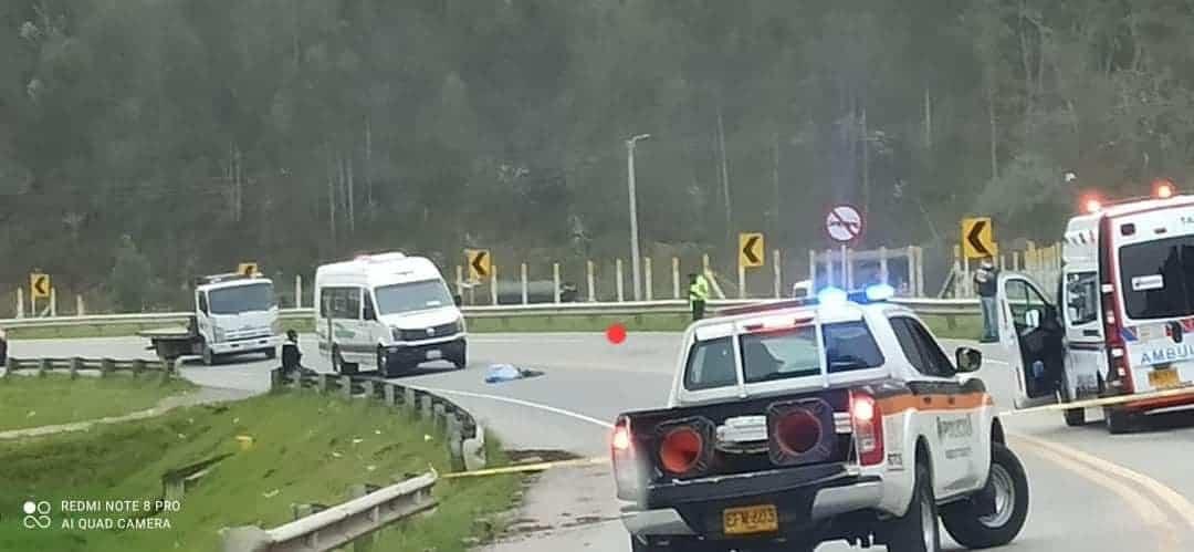 Un hombre murió en accidente de tránsito en Tibasosa, cerca de Coomproriente