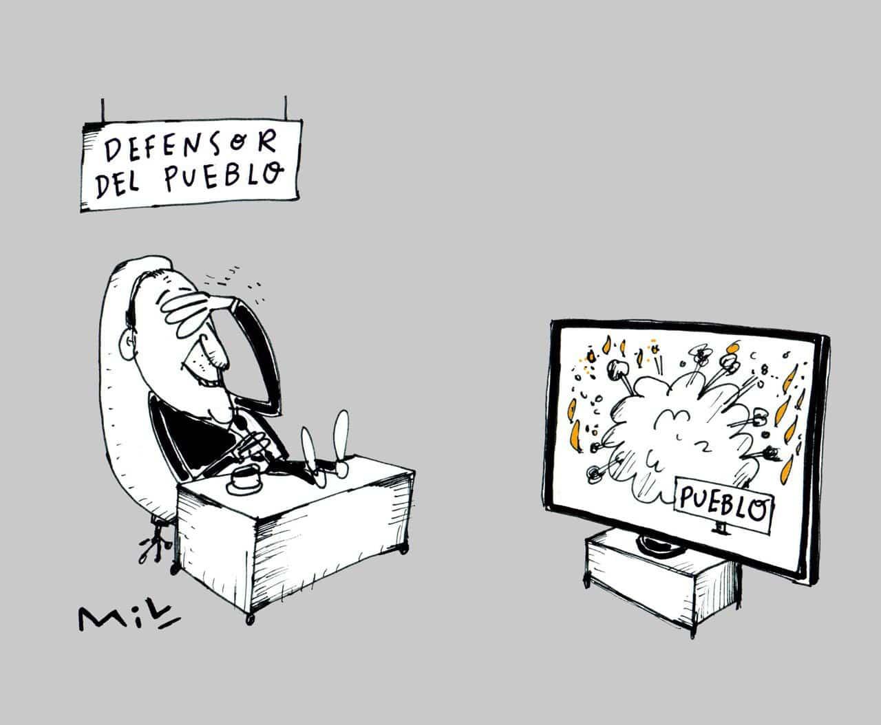 Defensor del Pueblo - Caricatura 7 días