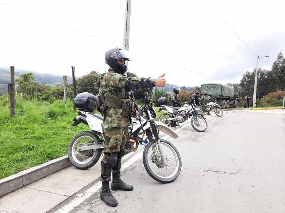 Según la funcionaria departamental, el Ejército hace presencia en las vías de Boyacá pero no ha intervenido en las manifestaciones. Foto: archivo particular
