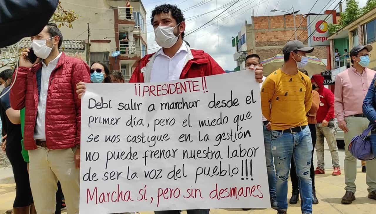 El curioso mensaje del alcalde de Paipa en medio de la protesta #Tolditos7días