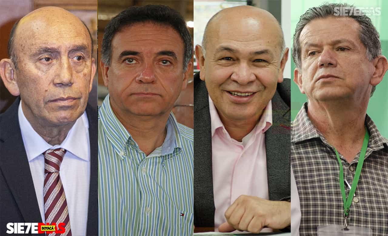 Fabio Parra, Enrique Camargo, Fabio Guerrero, y Édgar Vidal Ulloa. Fotos: Luis Lizarazo / archivo Boyacá Siete Día