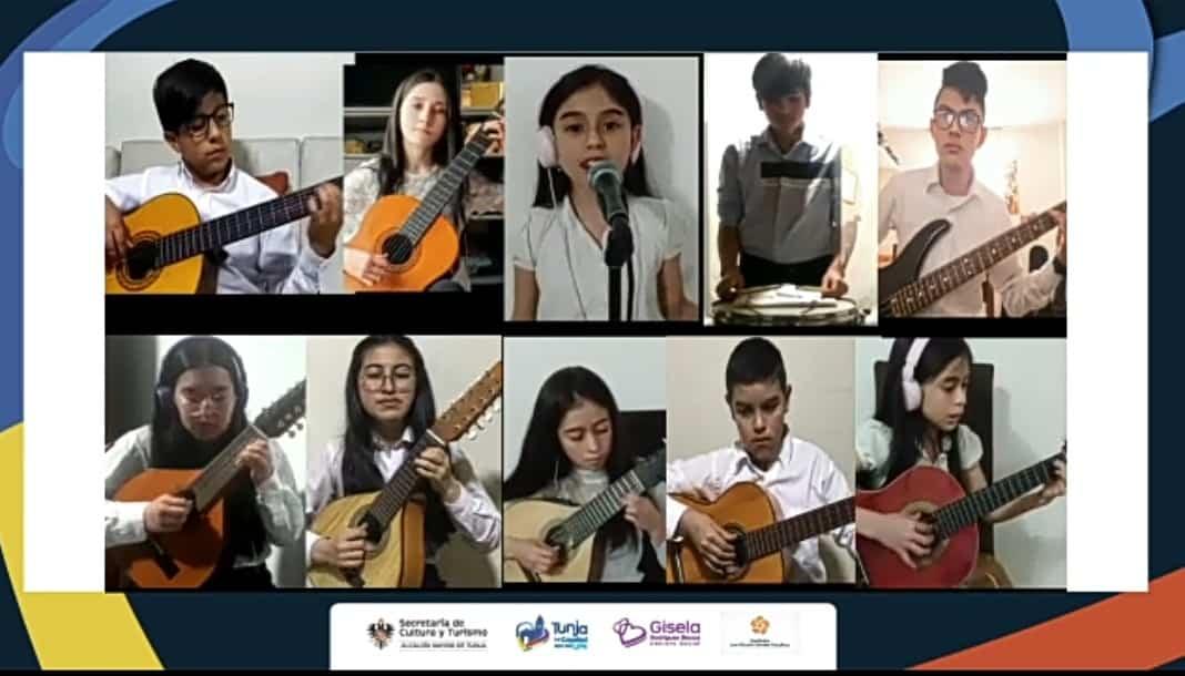 Los niños de la Escuela de Música de Tunja, ahora en ensambles virtuales 1