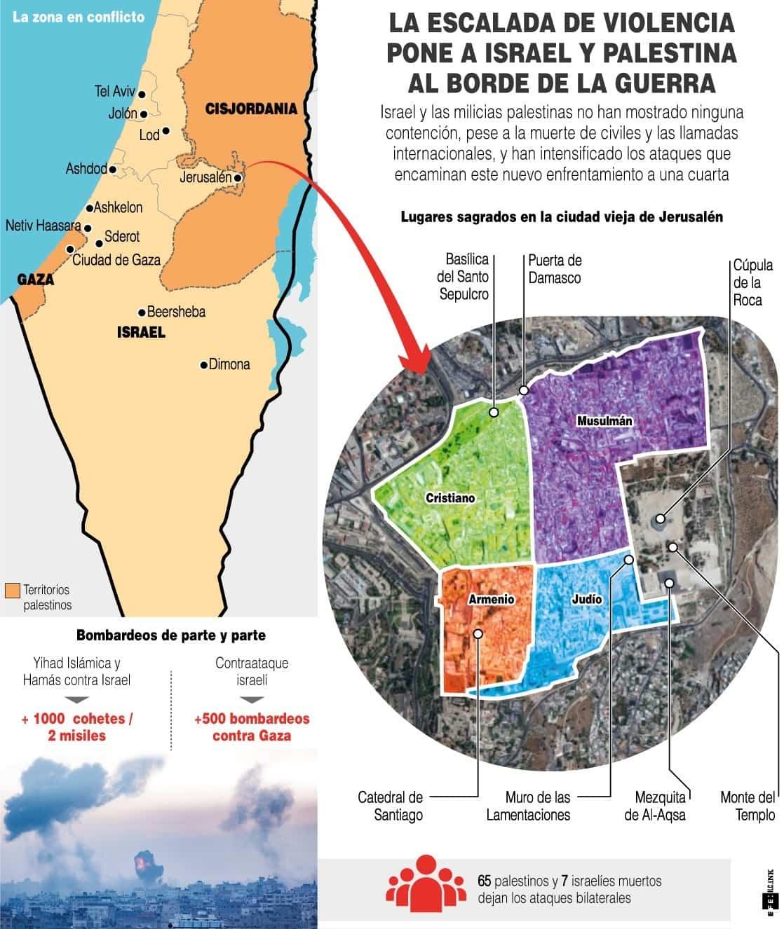 [Infografía] - La escalada de violencia pone a Israel y Palestina al borde de la Guerra 1