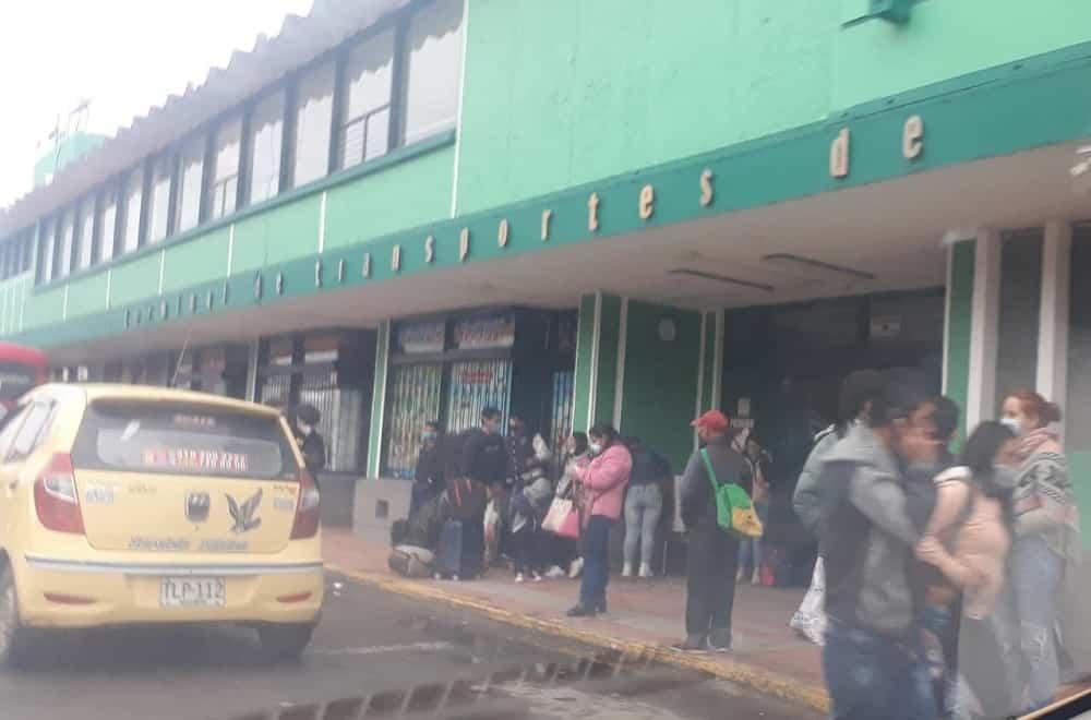 No hay despachos de buses desde la Terminal de Transportes de Sogamoso por el paro 1