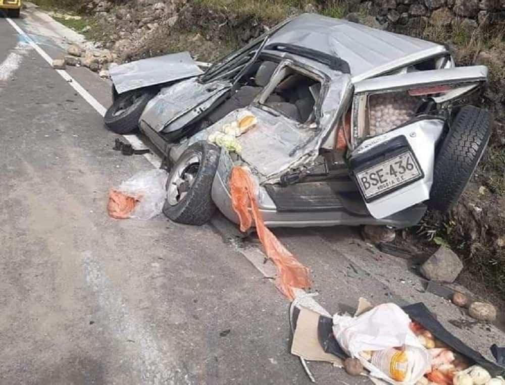 El aparatoso accidente que milagrosamente no terminó en tragedia 1
