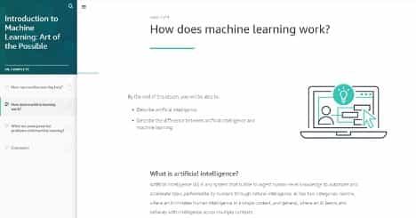 AWS lanza cursos de formación digital gratuitos para empoderar a los líderes empresariales con conocimientos de machine learning 1