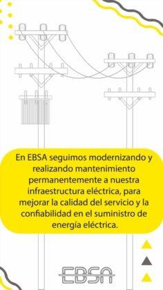 ¿Para qué la EBSA está instalando en su infraestructura cables semi-aislados o ecológicos? 3