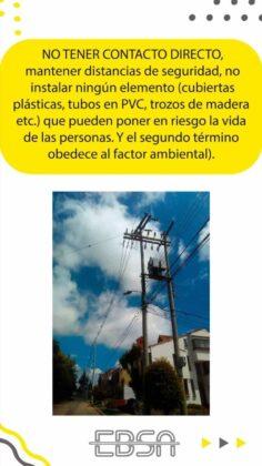 ¿Para qué la EBSA está instalando en su infraestructura cables semi-aislados o ecológicos? 7