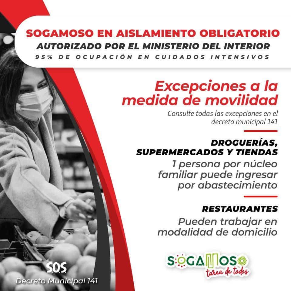 Las nuevas medidas para tratar de frenar el contagio de COVID este fin de semana en Sogamoso 2