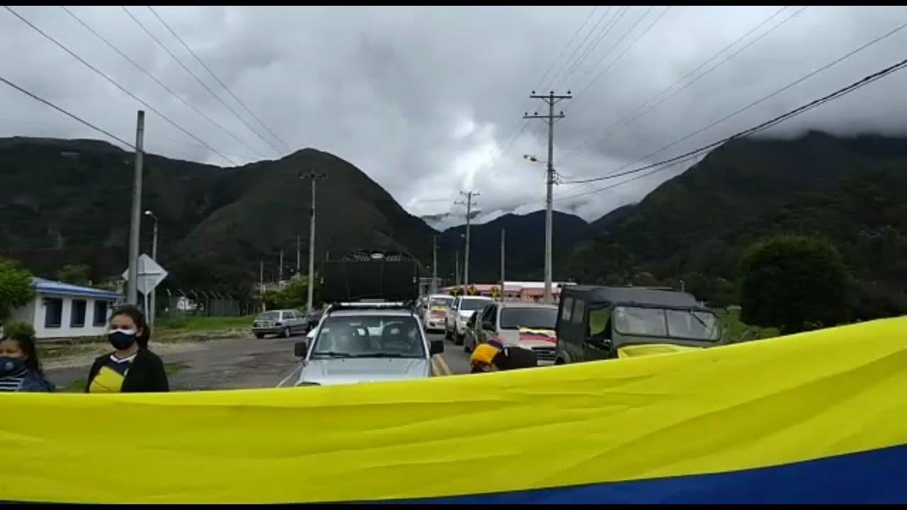 Manifestaciones en Arcabuco Boyacá. Foto: Archivo Particular