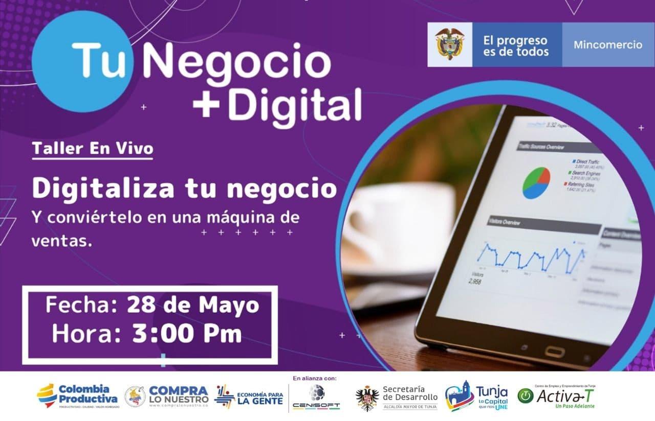 Atentos que están abiertas las inscripciones a programa 'Tu Negocio + Digital' en Boyacá 1