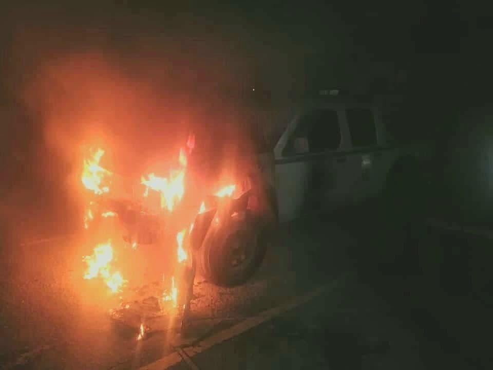Vándalos quemaron esta noche una patrulla en Duitama