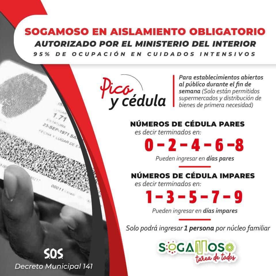 Las nuevas medidas para tratar de frenar el contagio de COVID este fin de semana en Sogamoso 3