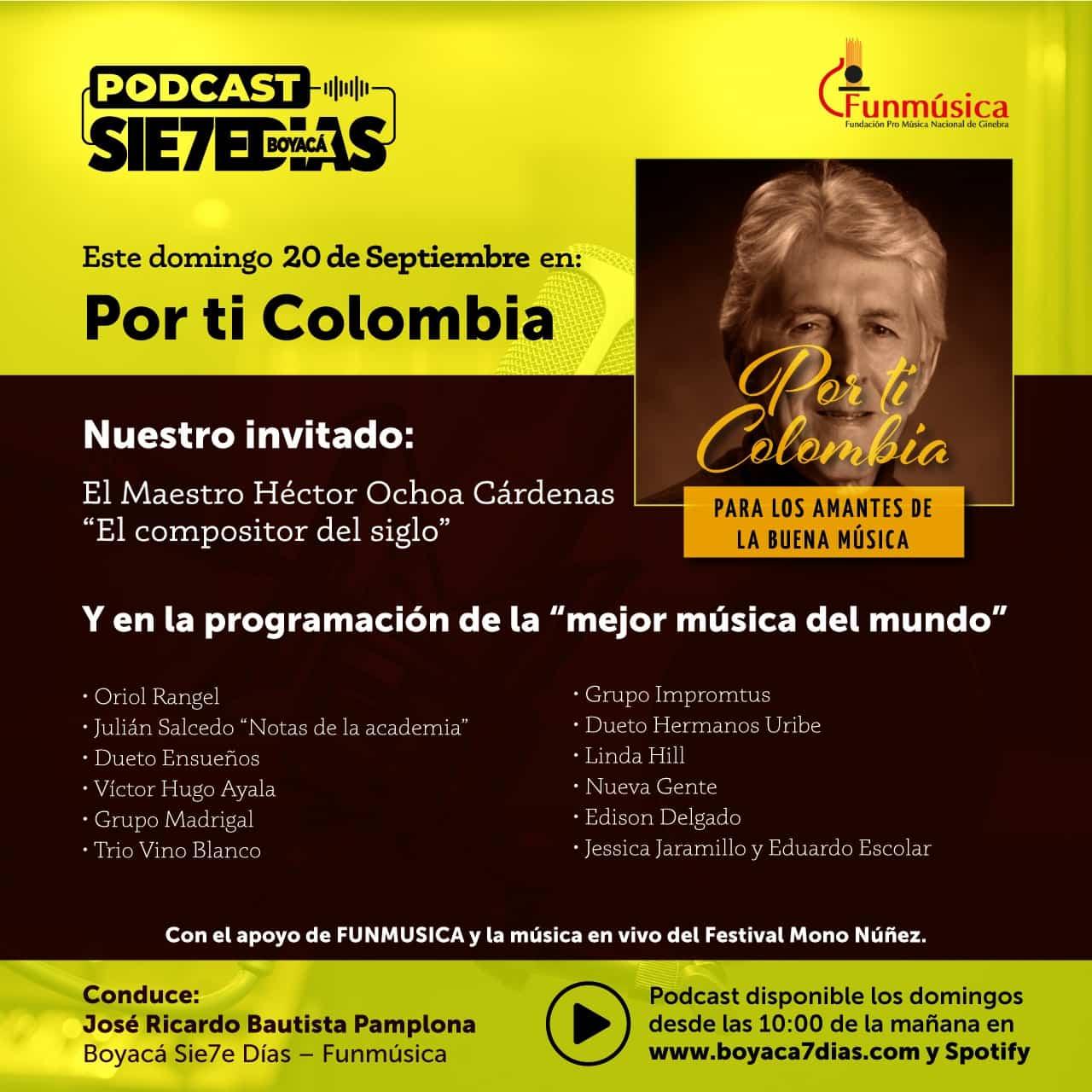 """El podcast """"Por Ti Colombia"""" sigue permeando las plataformas y las audiencias del mundo 1"""