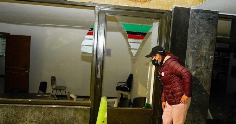 La Alcaldesa de Duitama explica qué pasó anoche en los actos vandálicos al edificio administrativo 4