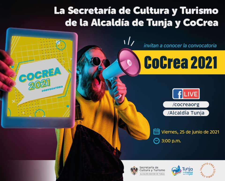 CoCrea 2021, el programa de la alcaldía de Tunja para acompañar a emprendedores y empresas que apoyan la cultura 1