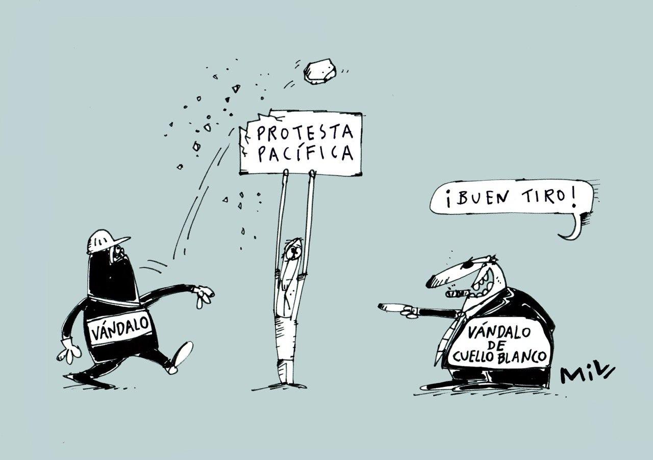 Protesta pacífica - #Caricatura7días 3