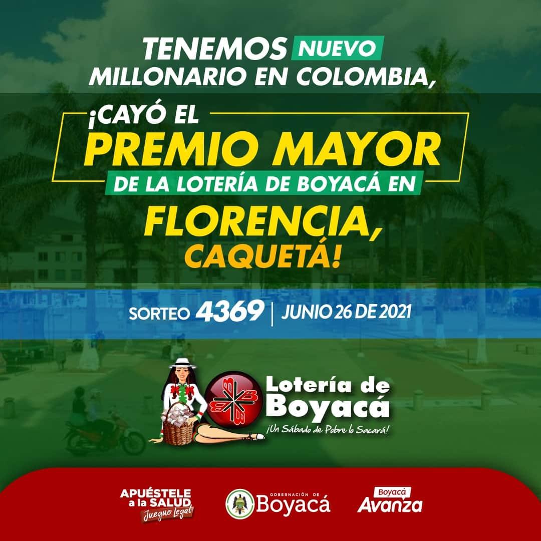 Tenemos nuevo millonario en Colombia, ¡de nuevo cayó el premio mayor de la Lotería de Boyacá! 1