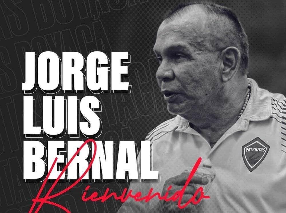 Jorge Luis Bernal, nuevo técnico de Patriotas Boyacá 1