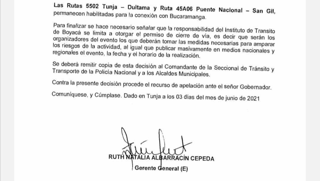 El error en la resolución del Itboy que autoriza cierre de vías mañana #Tolditos7días