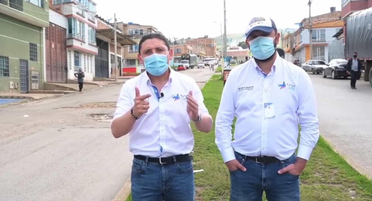 El alcalde de Tunja Alejandro Fúneme, anunció tres acciones para mejorar la malla vial de la capital Boyacense 1