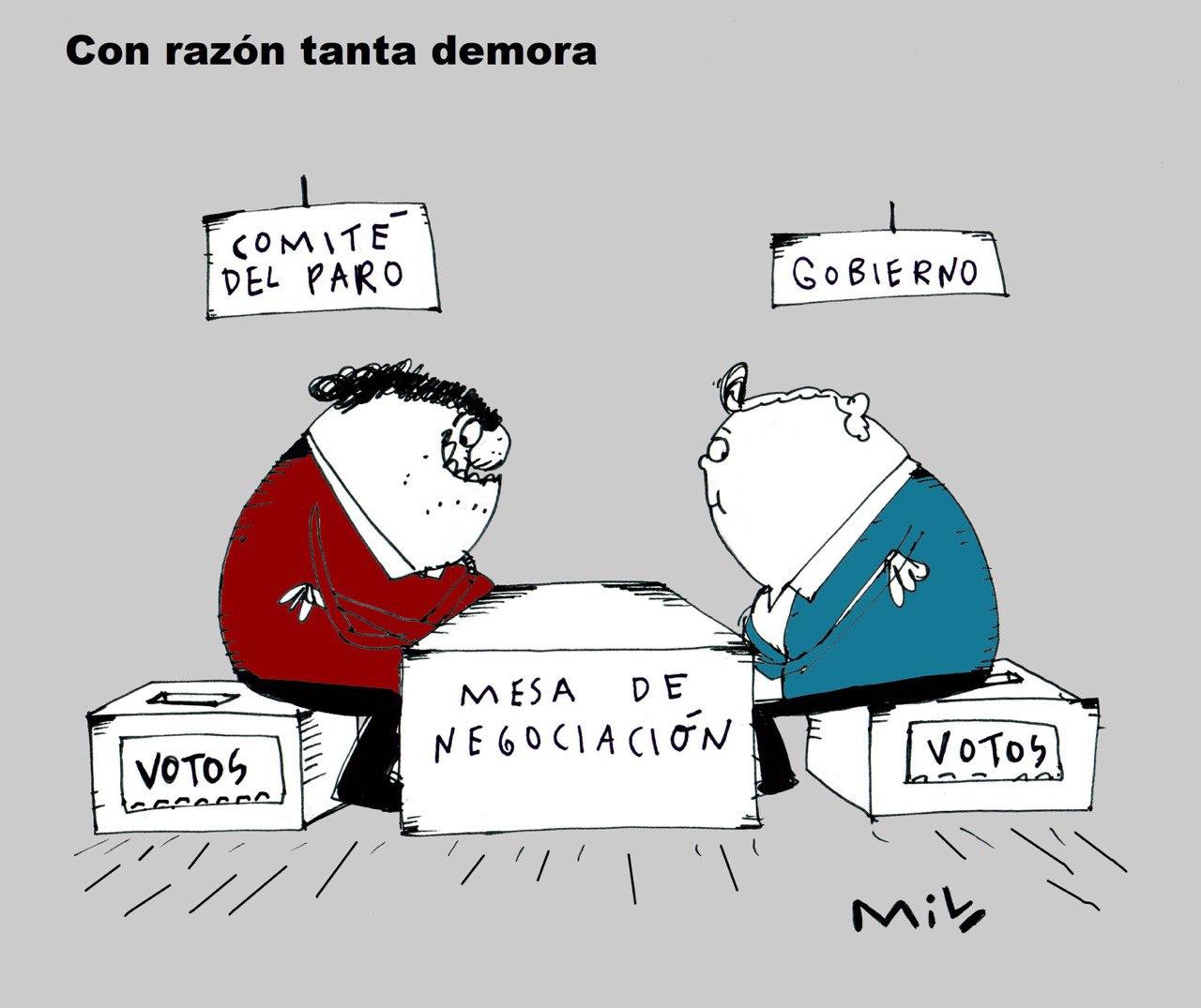 Con razón tanta demora - #Caricatura7días 1