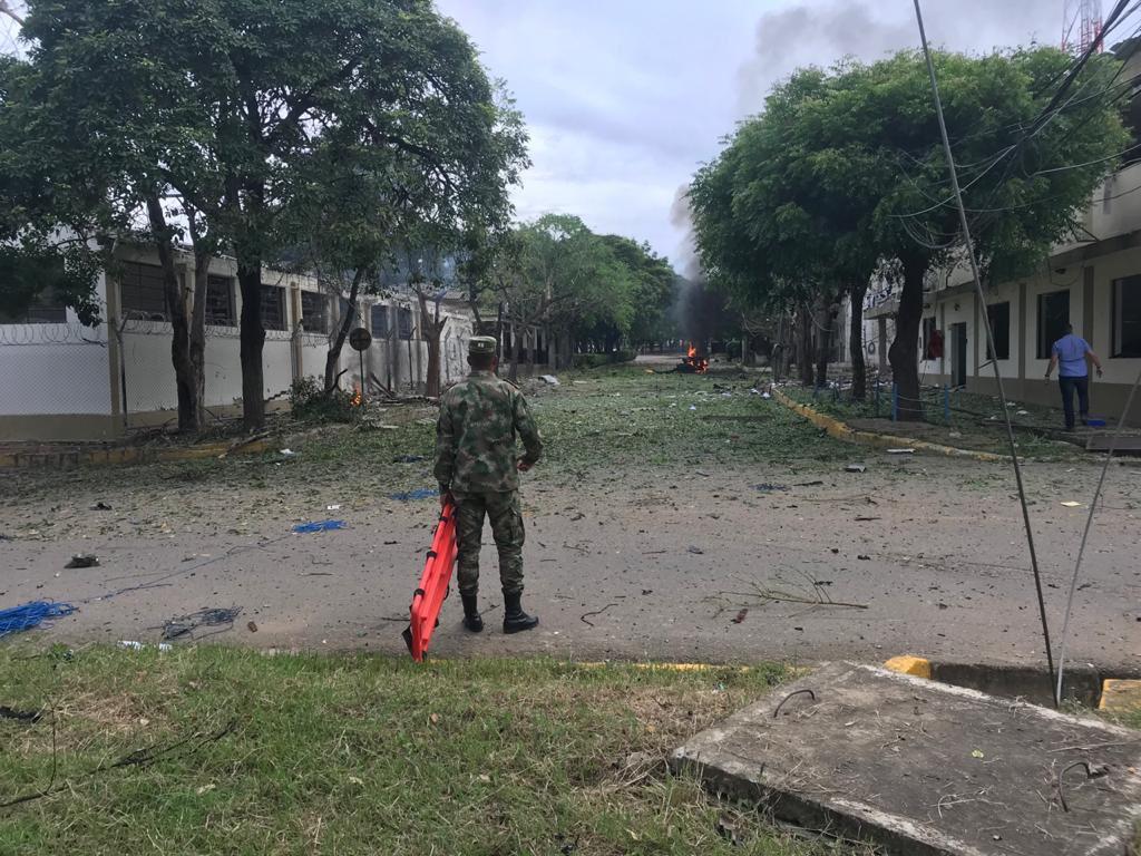 Un carro explotó en Batallón del Ejército en Cúcuta, Norte de Santander 1