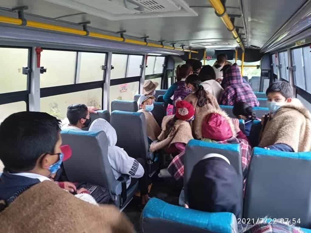 Denuncian falta de protocolos en transporte escolar en Mongua #Tolditos7días 1