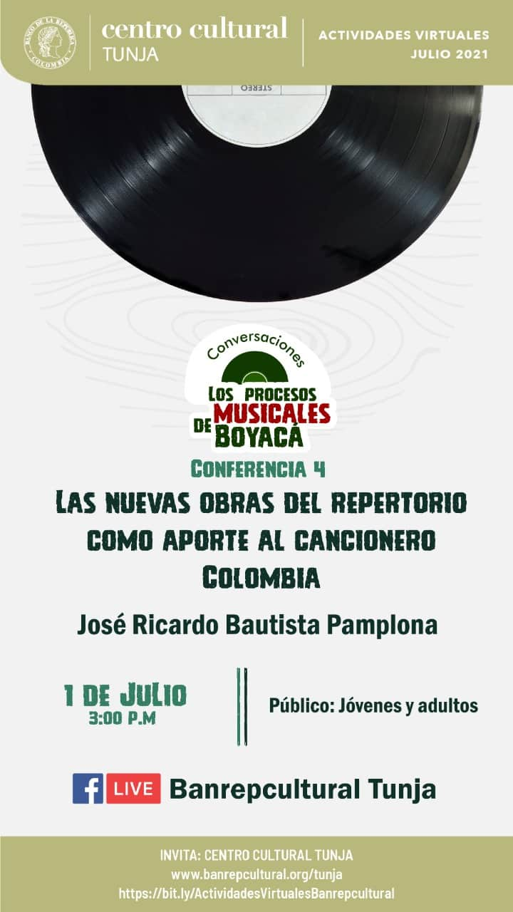 El Banco de la República de Tunja cierra hoy su primer ciclo de conferencias sobre el folclor colombiano 1