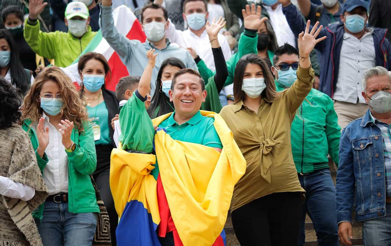 Carlos Amaya terminó el periplo por Boyacá y hoy llega a Cundinamarca con su #TourVerdeEsperanza 1