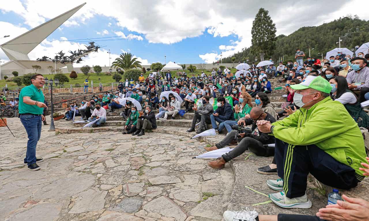 Carlos Amaya terminó el periplo por Boyacá y hoy llega a Cundinamarca con su #TourVerdeEsperanza 2