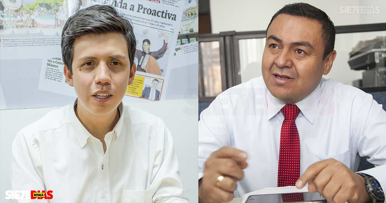David Ortega y Mauricio Colmenares. Fotos: archivo Boyacá Siete Días.