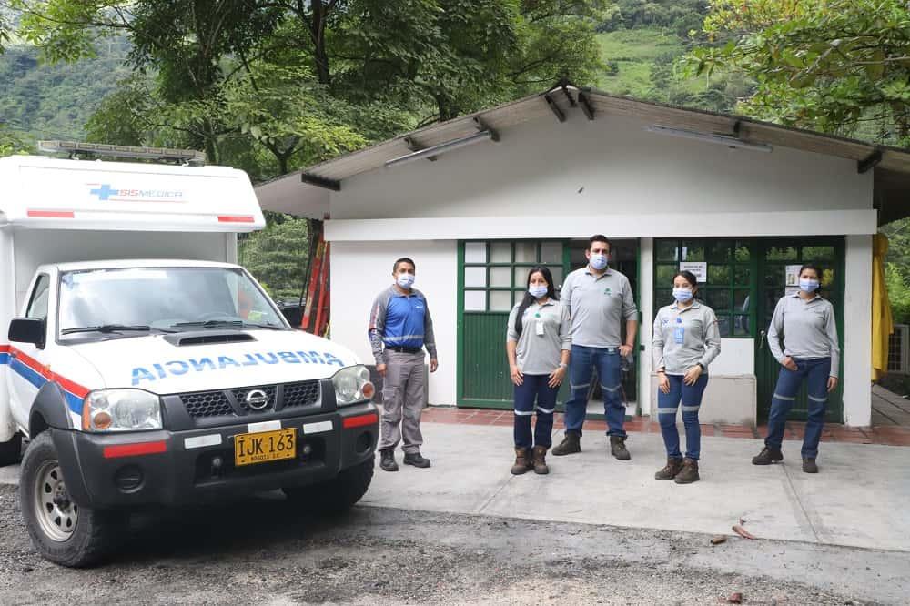 El equipo de Medicina Laboral y Salud Ocupacional de las Compañías Muzo Colombia está listo para la jornada de vacunación que empieza mañana. Foto: archivo particular