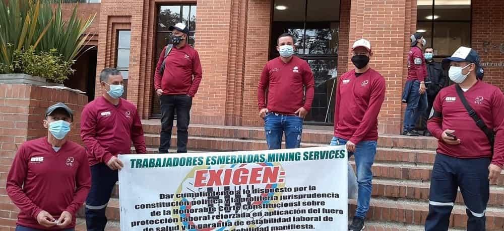 Protesta de mineros de Boyacá se trasladó a Bogotá a la sede de EMS #Tolditos7días 1