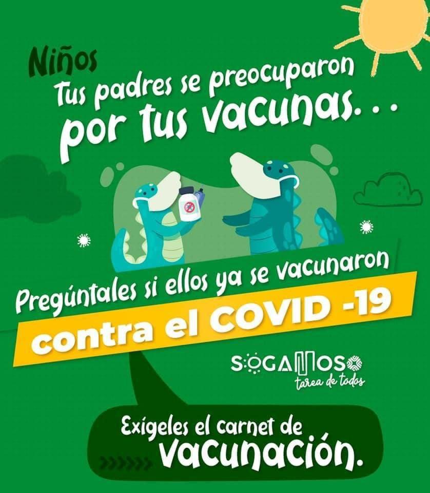 Alcalde de Sogamoso acude a los niños para que inviten a sus padres a vacunarse 2