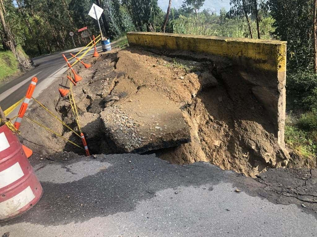 Estado de la Ruta de los Libertadores, Belén – Socha – Sácama – La Cabuya, afectada por las lluvias de los últimos días. Fotos: archivo particular