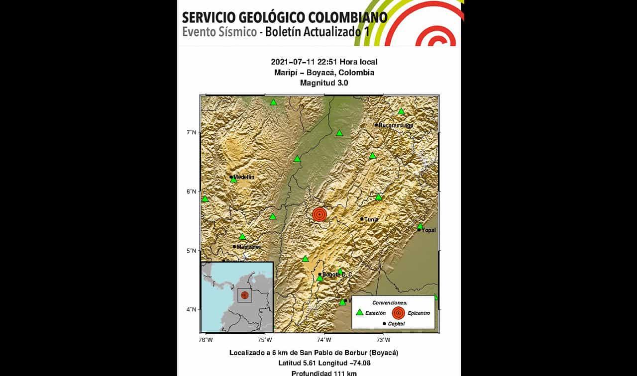Cuatro temblores originados en diferentes municipios de Boyacá en las últimas horas ¿qué paso? 1