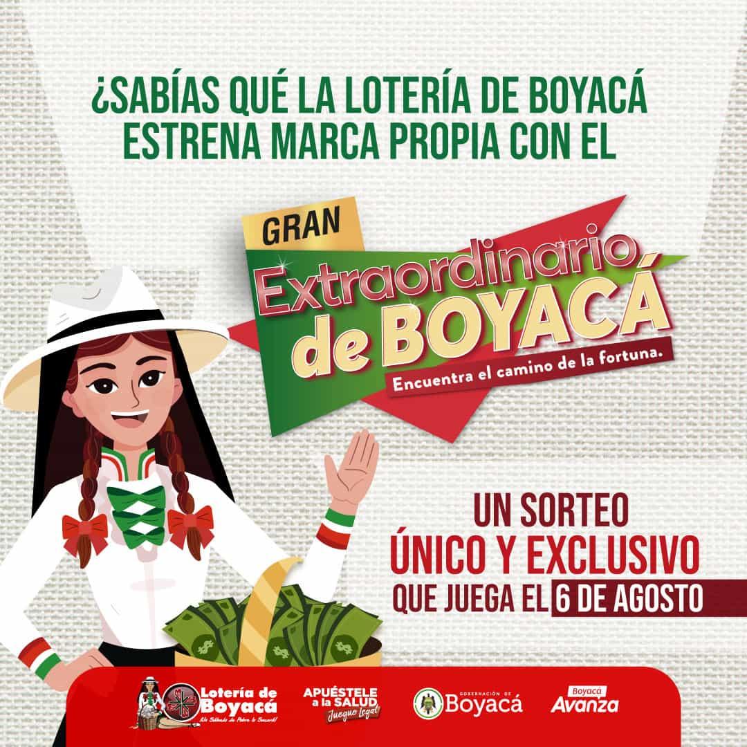 La Lotería de Boyacá estrena marca propia con el gran extraordinario de Boyacá 1