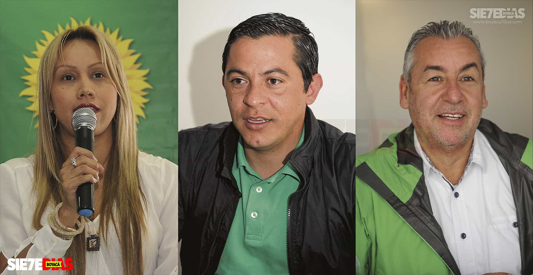 Sandra Ortiz, Wilmer Leal Abril y Jorge Eduardo Londoño. Fotos: archivo Boyacá Siete Días.