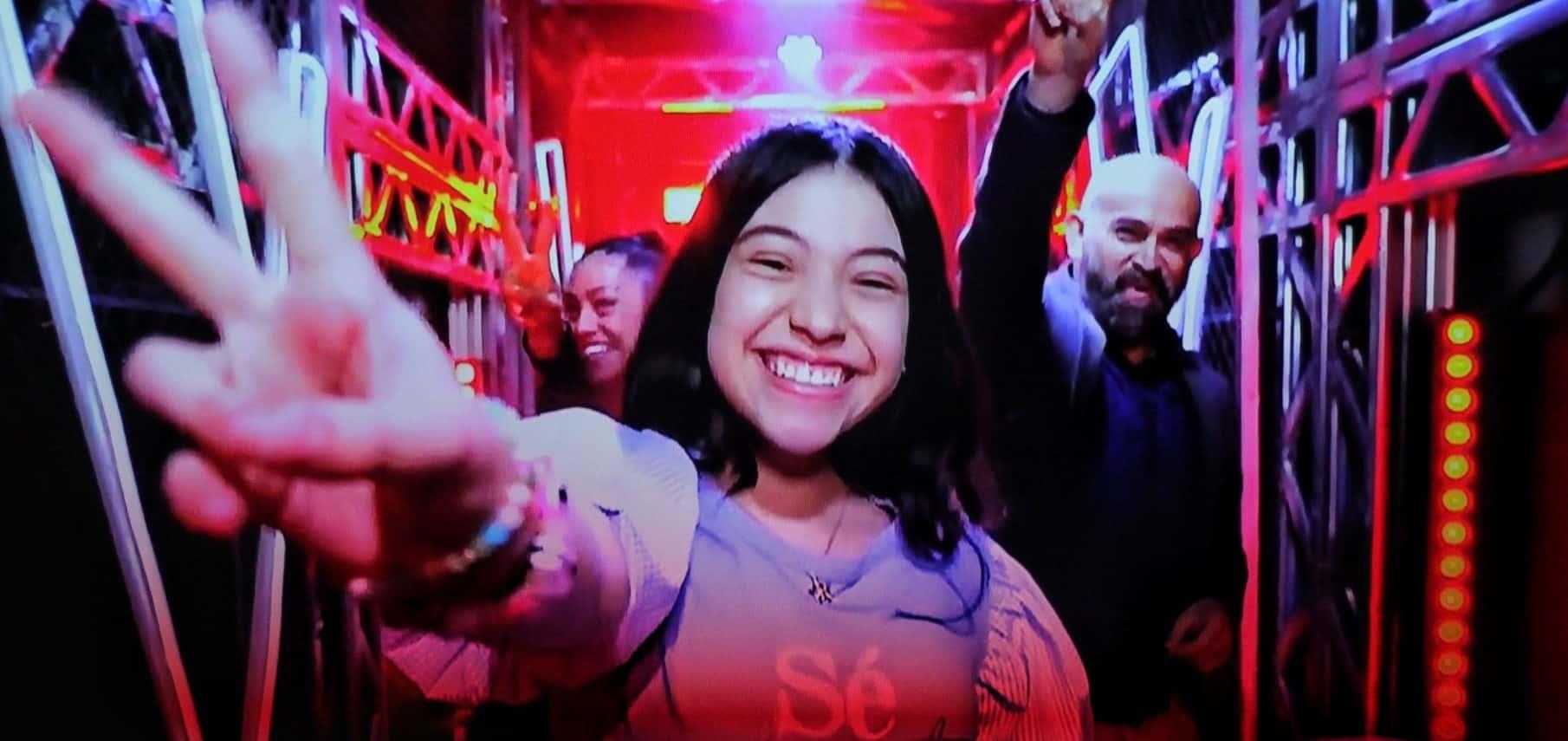 La boyacense Isabella Villamil Brijaldo cautivó al jurado internacional de la Voz Kids