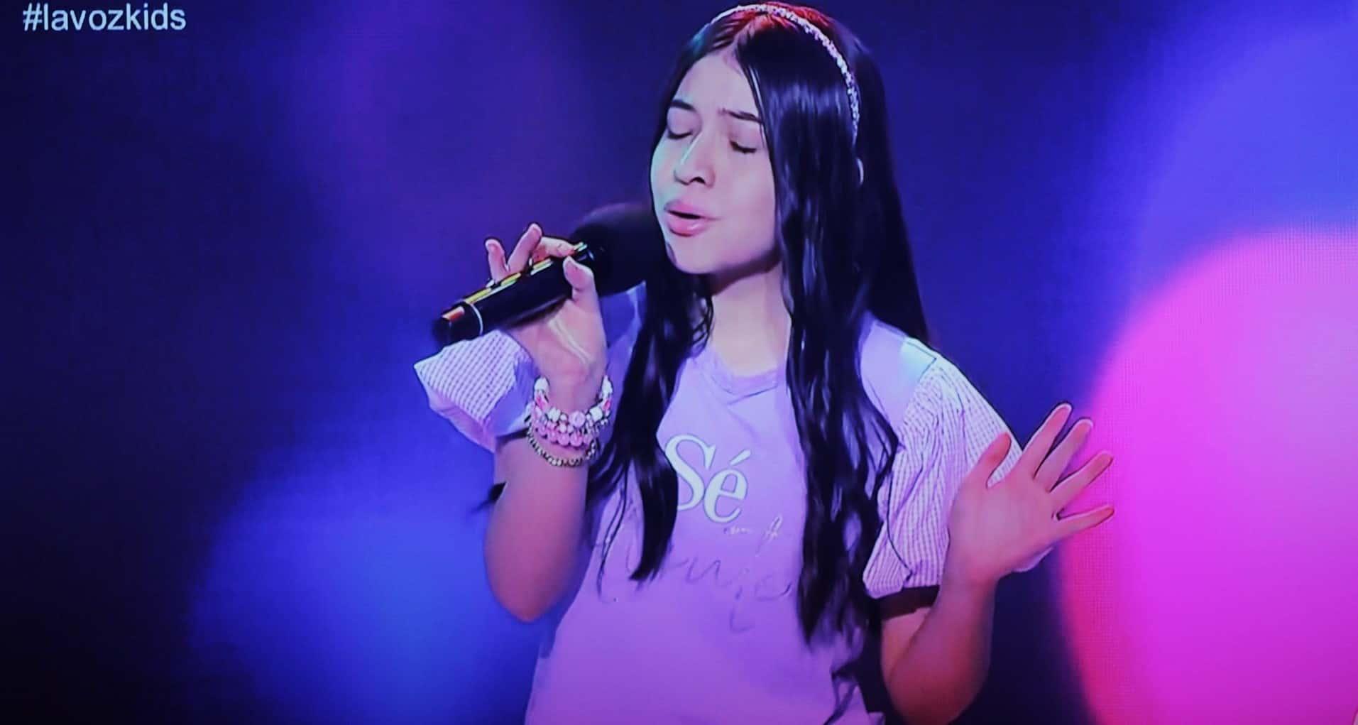 La Boyacense Isabella Villamil Brijaldo en su arribo a la Voz Kids de la televisión nacional. Fotografía Lucas Bautista - Boyacá Sie7e Días.
