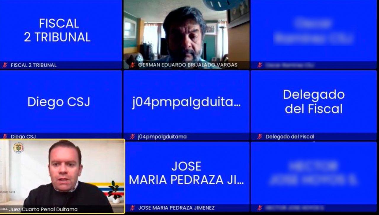 Ayer en audiencia virtual, el Juez Cuarto Penal de Duitama, le impuso la medida de aseguramiento al Juez Cuarto Civil Municipal de Duitama, Germán Eduardo Brijaldo Vargas.