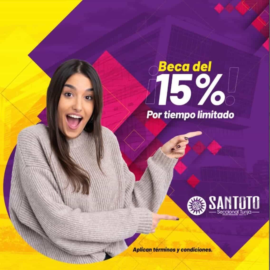 Este 23 de julio vence la beca del 15% en valor de matrícula en la Santoto Tunja 1