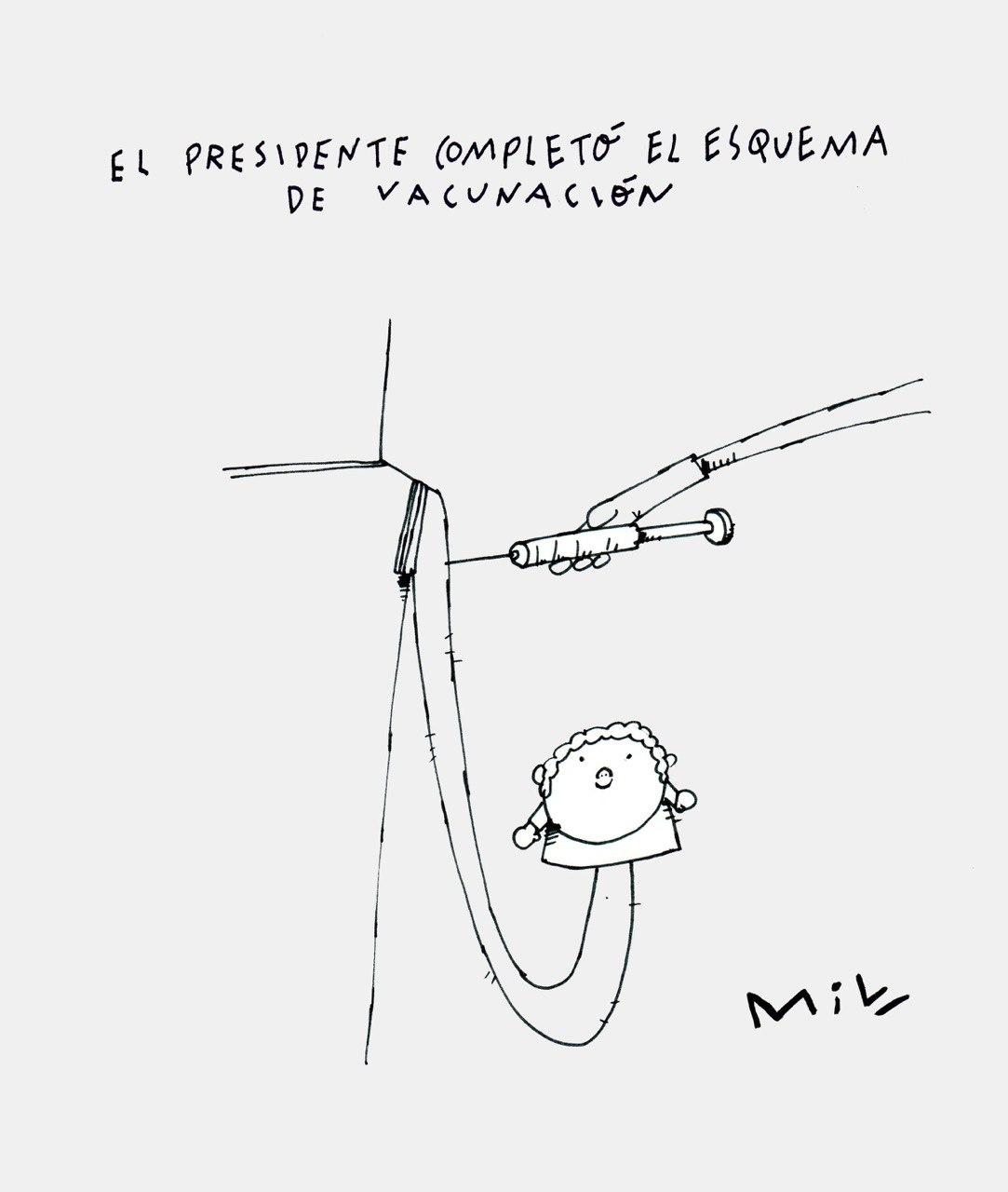 Presidente completó esquema de vacunación - #Caricatura7días 1