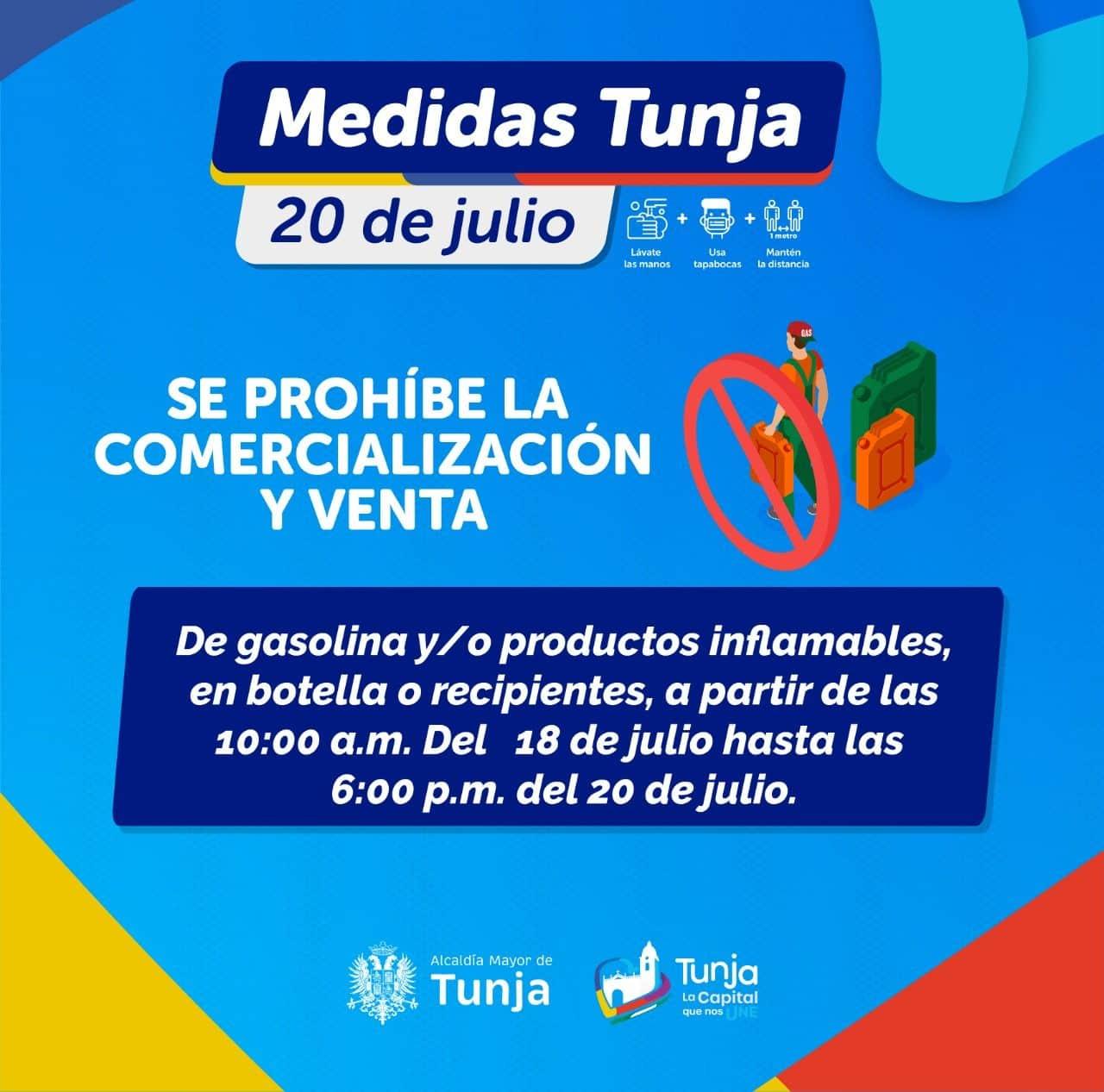Atentos: estas son las medidas para mañana 20 de julio en Tunja 1